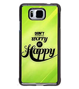Printvisa 2D Printed Quotes Designer back case cover for Samsung Galaxy Alpha- D4344