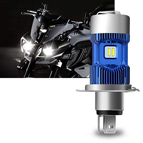 H4 Led Lampadina Kit per Moto - Win Power - H4 Faro per Moto Hi / Lo Beam, Xenon White 6000K 4000Lm Super Bright DC 12V / DC 24V, 1Pc