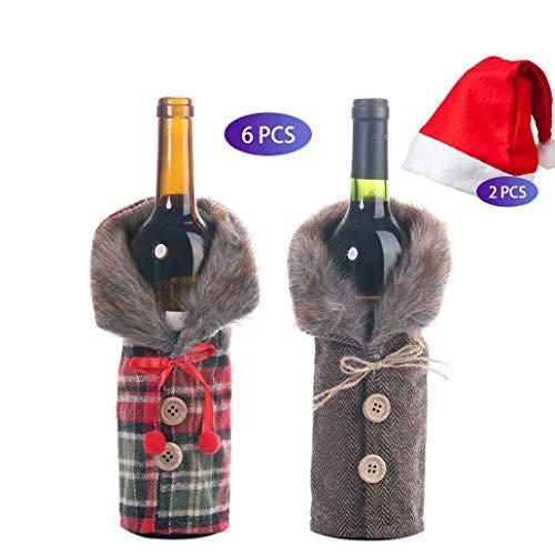 Funda para botella de vino de Navidad
