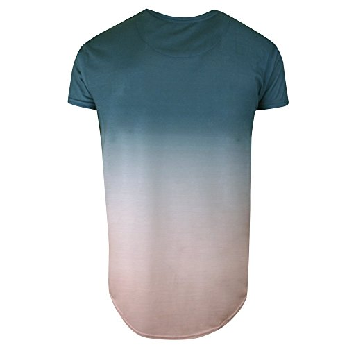Sik Silk Uomo Maglieria/T-Shirt Curved Hem Faded Teal Rose Fade