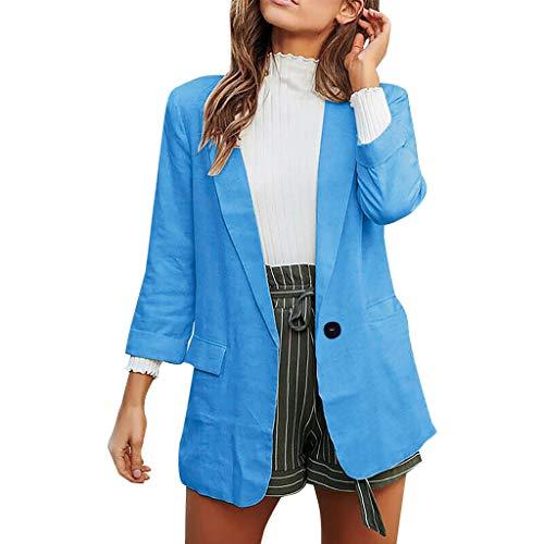 LANWINY Strickjacke Damen Grobstrick Cardigan Strickmantel strickcardigan Kurz Open Front Cardigan Cover Up Outwear mit Tasche Oversize Herbst -