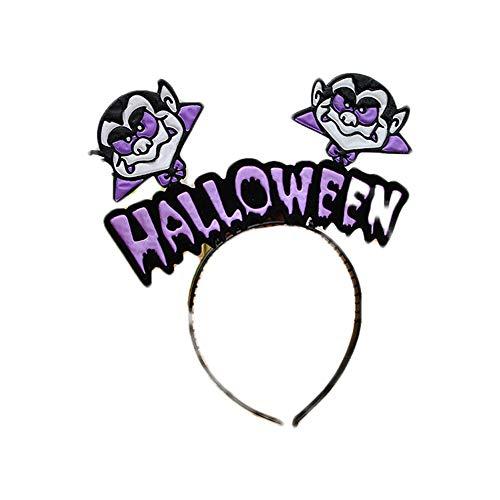 (Newin Star 1 Stück Halloween Stirnband Kürbis Hexe Schädel Stirnband Halloween Party Dekoration, Vampire)