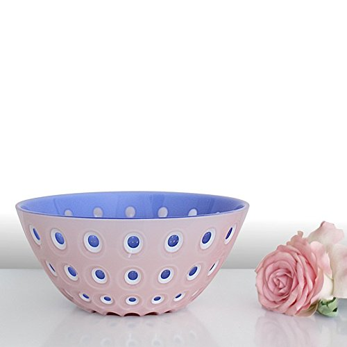 Guzzini Bol le Murrine Special Edition Rose Bleu, d'env. 25 cm