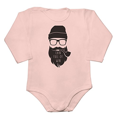 Chin Full Of Win Hipster With A Huge Beard Baby Long Sleeve Romper Bodysuit Babyspielanzug Extra Small