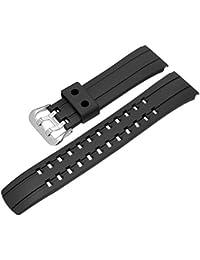 haodasi Repuesto Resin Reloj de pulsera reloj de pulsera correa de pulsera banda Watch banda para Casio ECW M300–1A/m300e mdr-1a eqw de 500E de 1A/510y de 1A/M710–1A