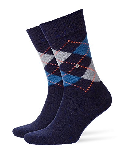 Burlington Tweed Argyle Herren Socken night blue (6578) 40-46 (Fashion Argyle Socken)