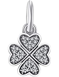 Charms et perles pour femme argent 925 herbe chanceux CHANGEABLE