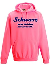 Schwarz war leider ausverkauft ! NEON SWEATSHIRT mit Kapuze HOODIE floureszierend Neongelb, Neongrün, Neonpink, Neonorange