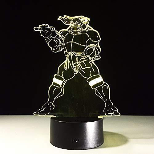 DDBBhome Lampe 3D Teenage Mutant Ninja Turtles avec Lampe De Couchage pour Garçon À Effet De Changement De Couleur 7