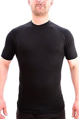 MarkFit Herren T-Shirt 100% Wolle Merino Kurzarm Hochwertig