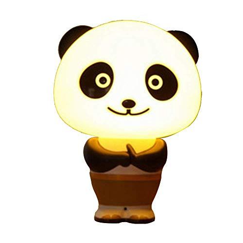 BDYJY Europäisches Panda-Nachtlicht Kreative Stimme Zeitsteuerung Intelligente Dialog Acryl Lampenschirm Augen Innenbeleuchtung Wohnzimmer Schlafzimmer Studie Bedside Villa Fixture (Was Ist Die Bedeutung Der Produktion)