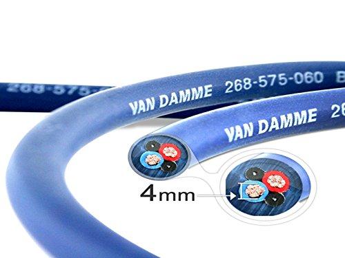 Van Damme Professional Blue Series Studio Grade 2 x 4 mm (2 Kerne) Lautsprecherkabel 268-545-060 2 Meter / 2m -