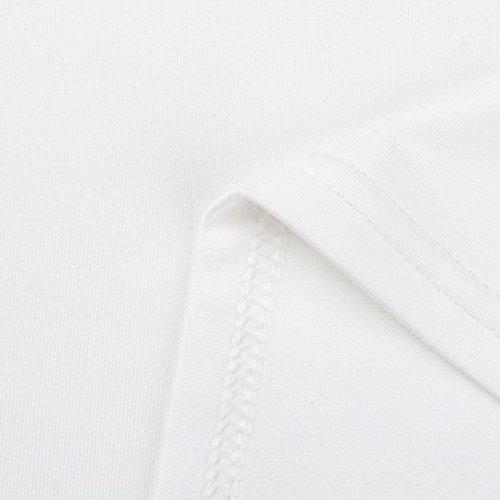 Chic collo Bianco ❤️manadlian Estate Donna 2018 Manicotto Di Donne Grembiule Pizzo Solido Della o Del Allentato Delle Camicetta Mid Superiori Camicia Parti qTTnWU1