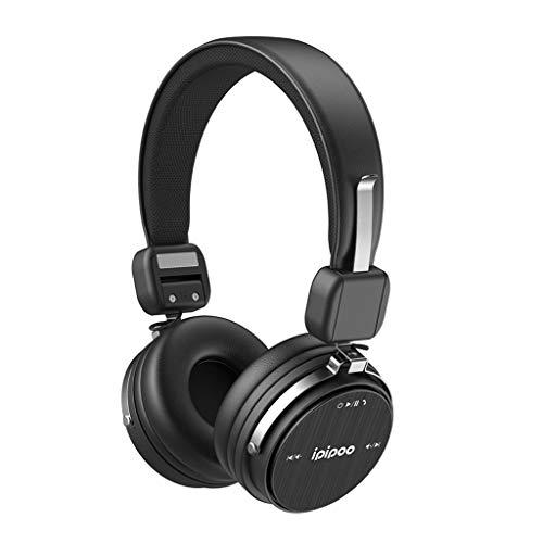 Jamicy® Noise Cancelling Kopfhörer, Bluetooth Over Ear Kopfhörer, Kabellose Headset Stereo Bluetooth-Kopfhörer mit Mikrofon Klappbares Design für iPhone, Android, PC mit 3,5 mm Audiokabel (Schwarz) -