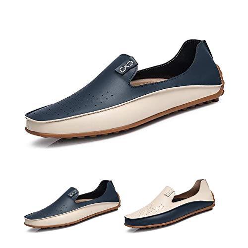 HILOTU Mocassini Penny da Uomo Mocassini Leggeri E Traspiranti Scarpe da Passeggio Classiche Slip di Classe su Scarpe da Lavoro (Color : Blu, Size : 41 EU)