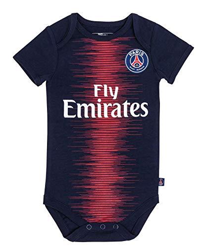 cccbd5c6c6707 Body + babero de la primera equipación del Paris Saint Germain para bebé,  Bebé niño, azul, 3 meses