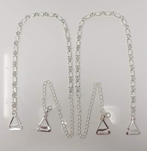 splendide cinghie per reggiseno con cristalli 1 paio VN Trends a doppia fila