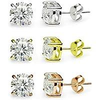 Qualità Premium, colori misti in argento Sterling, placcato oro rosa e oro, con Zirconia cubica (Seed Bead Orecchini Patterns)
