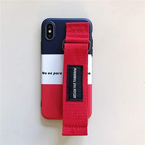 NäHen Farbe Leinwand Armband iPhone XS Max Handy Shell Kreative Paar Modelle TPU Apple SchutzhüLle,iPhone6/6S