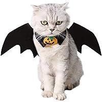 VIKEDI Katze Kleidung, Halloween Katze Kleidung Katze Fledermaus Kostüm mit Katze Kragen Fliege für Halloween Party Cosplay Dekoration,Einstellbare Größe