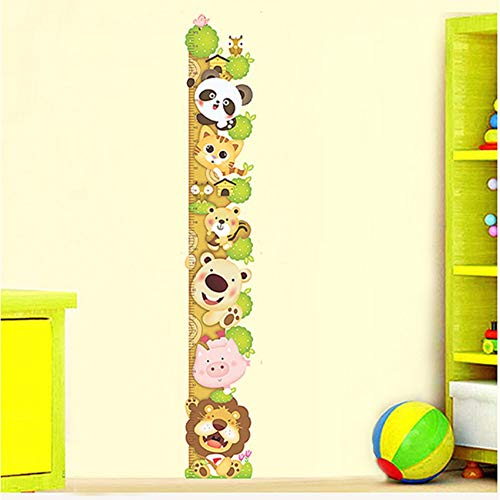 Hbbhbb Kids Child Height Chart Measure Wall Stickers Animals Climb Tree Vinyl Wallpaper House Decorative Decals Removable - Chart House-tv