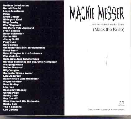 Preisvergleich Produktbild Mäckie Messer-39 Versionen
