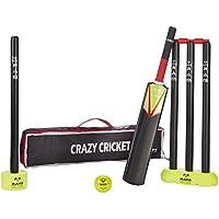 Crazy Cricket Set - Mini Kids Set, 1 x Size 2 Bat, Kwik, Quick, Beach, Park - Suitable for approx ages 5-9 years