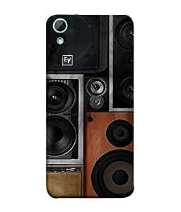 PrintVisa Designer Back Case Cover for HTC Desire 626G :: HTC Desire 626 Dual SIM :: HTC Desire 626S :: HTC Desire 626 USA :: HTC Desire 626G+ :: HTC Desire 626G Plus (sound system black brown shades vintage)