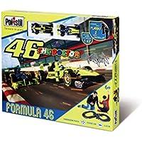 Polistil-VR46 Super Formula One (2 Auto F1 Livrea VR46 incl.), Multicolore, 90528.004