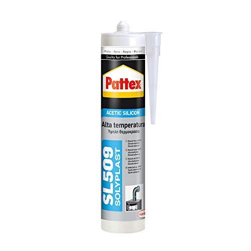 Pattex SL 509 Alta Temperatura Sellador de silicona acética, sellador de silicona...