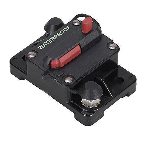 Foxpic DC 12-48V 120A Disyuntor Cortacircuitos Circuit Breaker Fusible Protección para Audio Estéreo Barco Coche RV Sistema Eléctrico Marino