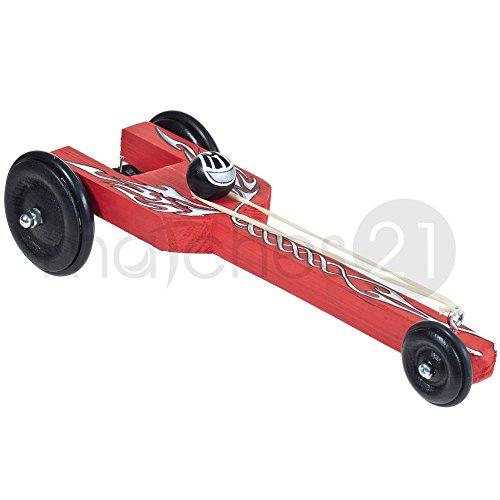 matches21 Dragster Drag Racing Rennwagen für Beschleunigungsrennen mit Gummiantrieb Bausatz