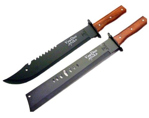 NICK AND BENÂÂ Macheten 2 STÜCK Stahl Jagd-Messer Gürtel-Messer Schwert 50cm Nerd Clear