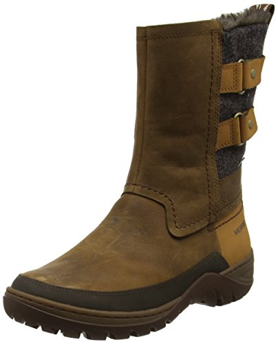 Merrell Sylva Mid Buckle Waterproof, Bottes de Neige Femme Marron (Merrell Tan)