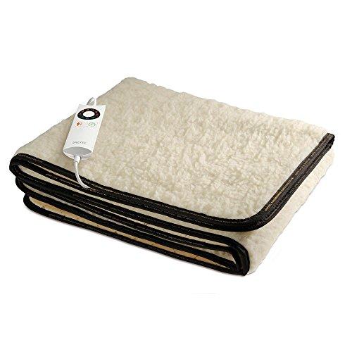 Imetec Scaldasonno Premium Heizdecke, Mischung aus Wolle und Merinowolle, Einzelbett
