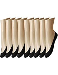 Caudblor 9 Pares Calcetines Invisibles Mujer Antideslizante Calcetines Cortos 33-36/36-39