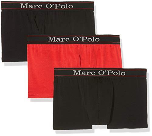 Marc O'Polo Body & Beach Herren Multipack M-Shorts 3-Pack Boxershorts, Rot (Dunkelrot 507), Medium (Herstellergröße M) (3erPack)