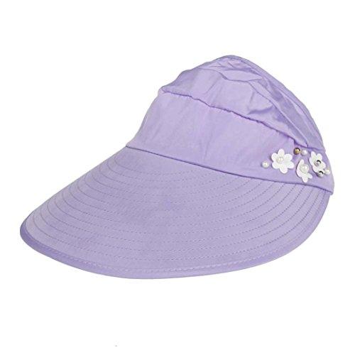 Strand Sonnenschutzkappe UV Schutz Caps Sonnenblende Hut (Violett) (Baby Kostüm Bier)