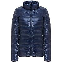 WJP mujeres ultra ligero de la chaqueta poco voluminoso abajo Outwear amortiguar por la chaqueta W-1404