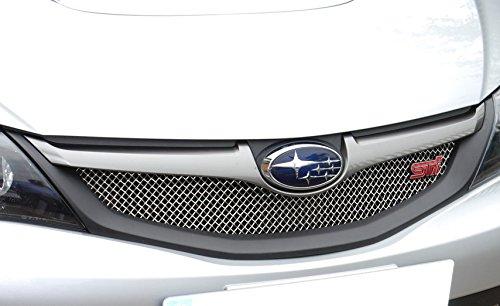 Subaru Impreza STi 2008 MY - Top Grille - Silver finish (2008 0nwards)