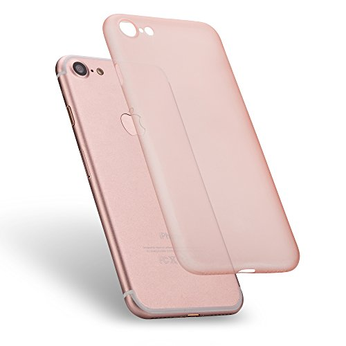 Preisvergleich Produktbild LAMINGO UltraSlim Ivory Case Handyhülle [Matte TPU] Premium Schutzhülle für das Apple iPhone 7 in rosé