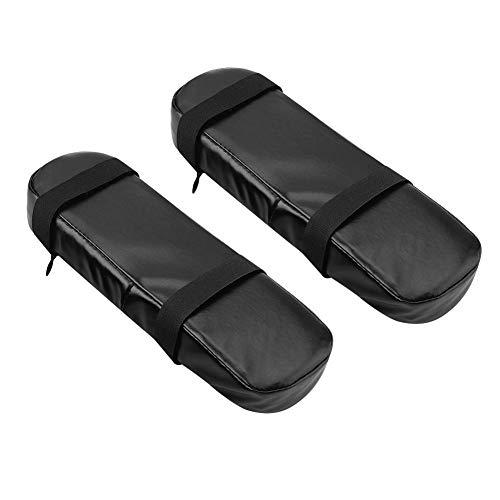 FTVOGUE Stuhl Armlehne Pads Memory Foam Armlehne Abdeckungen Universal Bürostuhl PU Leder Kissen für Ellenbogen und Unterarme Druckentlastung - Leder Stuhl-abdeckung