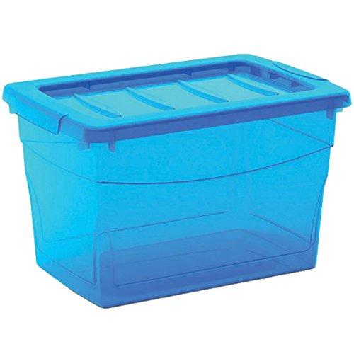 Kis 8610000 0188 03 Omni Box-Scatola portaoggetti in plastica, 30 L, colore: blu