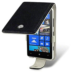 Nokia Lumia 820 Cool Black Cream Case Genuine Leather Wallet Cover Pocket Pouch Protector from Keep Talking Shop Nokia Lumia 820 Accessories