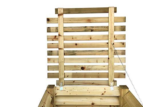GartenDepot24 Couvercle Stable pour composteur de Bois 100 x 100 cm