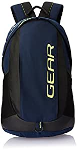 Gear 34 ltr Navy Blue and Green Casual Backpack (BKPOTLNR80503)