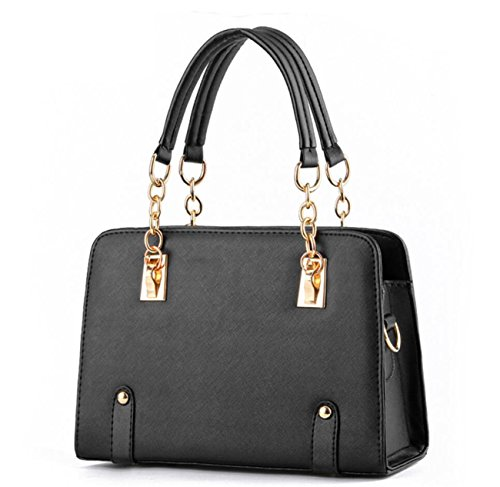 estate-alla-moda-modelli-lady-catena-tracolla-messenger-handbag-black