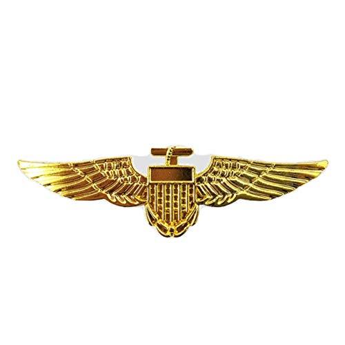 SeeMeInThat Gold Anstecker Metall Pin Pilot Kostüm Fliegerkleid 1. Weltkrieg Captain Hirsch Airline Top - Captain Pilot Kostüm