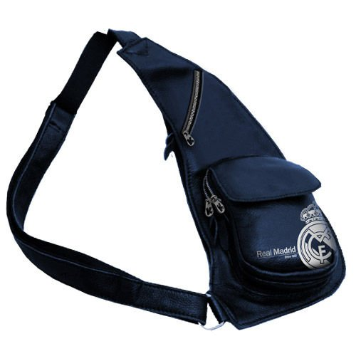 *Exclusiv* Real Madrid Schultertasche umhängetasche Seitentasche 42x19x6cm LEDER LOOK EDEL (Real Madrid Messenger Tasche)