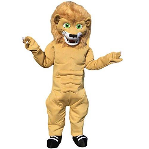 Preisvergleich Produktbild Langteng gelb Löwe Cartoon Maskottchen Kostüm Echt Bild 15–20 Tage Marke